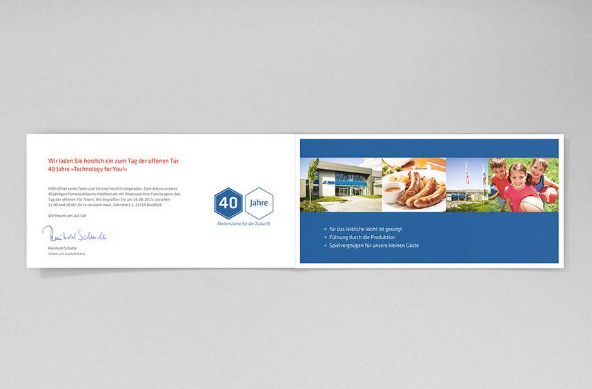 Einladung Zum Firmenjubiläum Für IWN, Karte Offen, Innenansicht