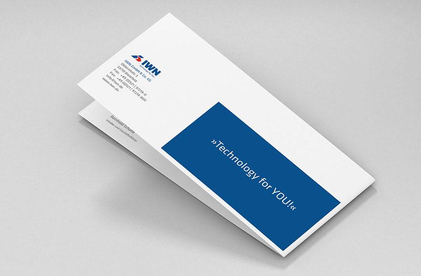 Einladung Zum Firmenjubiläum Für IWN, Karte Geschlossen, Rueckseite